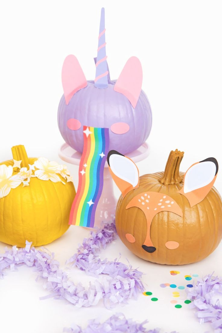 COLOURFUL SNAPCHAT FILTER DIY PUMPKINS FOR HALLOWEEN.