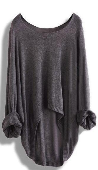 Long-Sleeved Knit Blouse Knit Shirt Hollow AX091117AZ