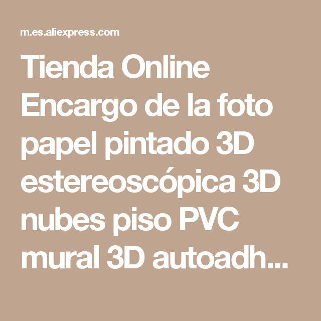 Tienda Online Encargo de la foto papel pintado 3D estereoscópica 3D nubes piso PVC mural 3D autoadhesión piso wallpaer 20156948   Aliexpress móvil