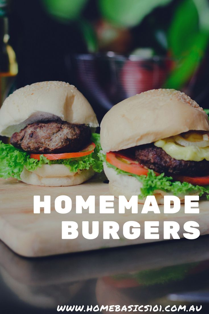 Quick and Easy Meal Ideas - Homemade Hamburgers Yum!!