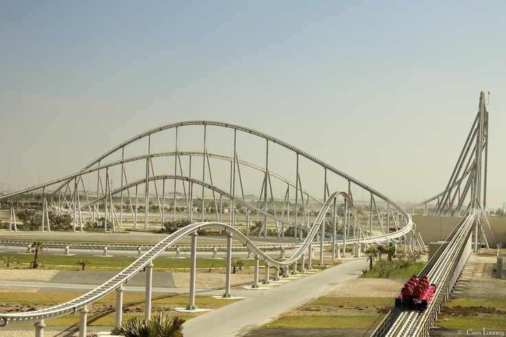 Longest Roller Coasters. Number 6: Formula Rossa - 6562 Feet  At Ferrari World on Yas Island in Abu Dhabi, part of the United Arab Emirates