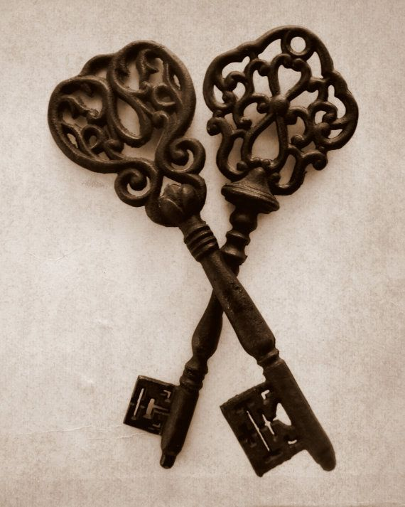 Keys - Fine Art Photography - Vintage Inspired, Home Decor, Wall Art - 8x10
