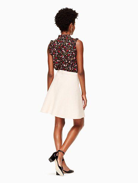 Kate Spade Tweed Military Skirt, Rose Dew - Size 8