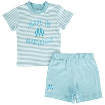 Olympique de Marseille Made in Marseille T-Shirt and Short Set - Blue - Baby Boys: Olympique de… #Sport #Football #Rugby #IceHockey
