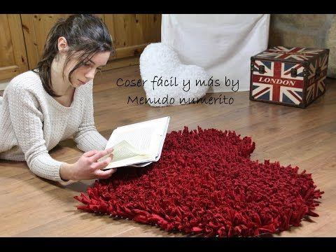 Cómo hacer una alfombra de trapillo (a favor de Menudos Corazones) - YouTube