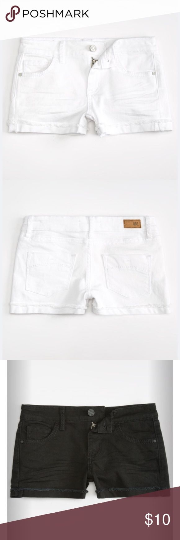 • Tilly's RSQ Women's Shorts • Absolutely stunning shorts from Tillys. These have been worn once, but they no longer fit me. Size 5- fits stretchy and snug. Very comfortable material! Have white and black available Tilly's Shorts Jean Shorts