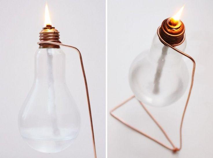 Öllampe aus einer alten Glühbirne: Upcycling Idee für die Kreativ durch den Monat Challenge {DIY} http://herzanhirn.de/oellampe-aus-einer-alten-gluehbirne-upcycling/