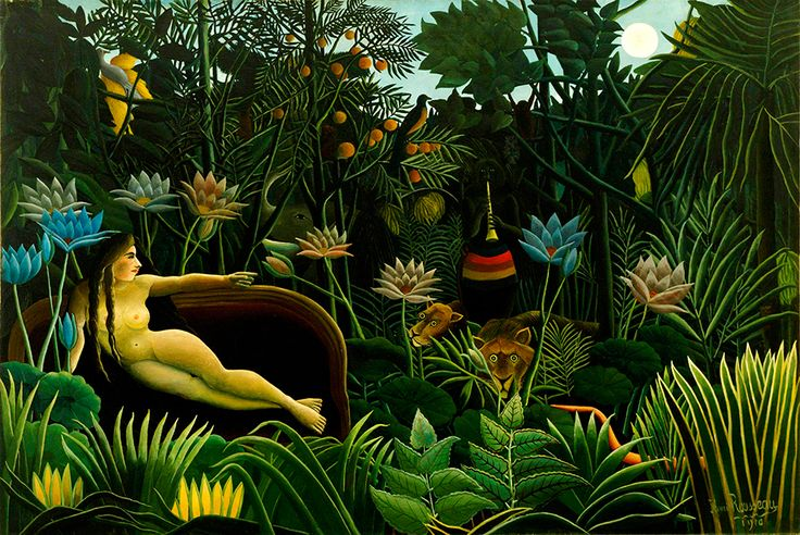 Exhibition aims to show how much Henri Rousseau's work belongs within a western art movement. Le Rêve [The Dream], 1910, oil on canvas, 204.5 x 298.5 cm