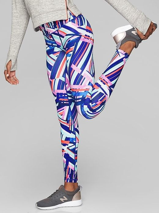 Athlete Girl Printed Chit Chat Tight - Large in Laser Sharp Print