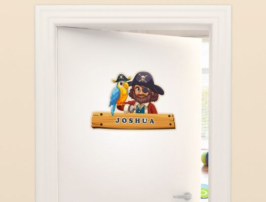 Piraten Türaufkleber mit Namen