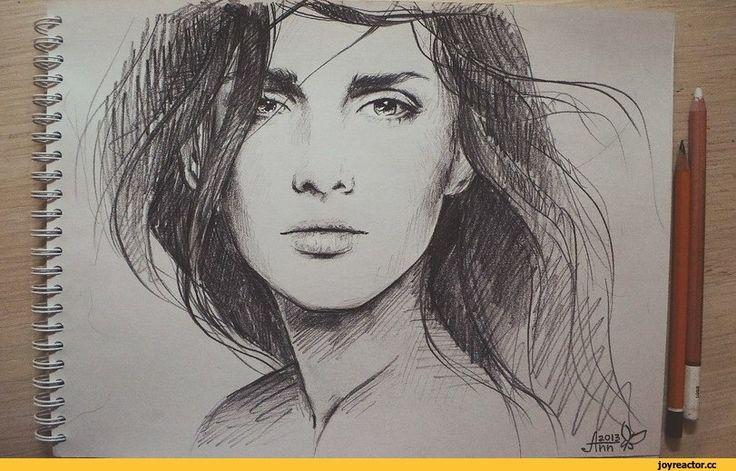 Ретро рисунок девушка