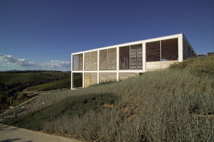 The Collemassari winery is situated in Cinigiano, near Poggi del Sasso. Designed by Edoardo Milesi, it is a work of conceptual wealth in which concepts like energy saving, sustainable building, quality work conditions and bioclimatic engineering led the design and painstaking choice of each individual component and material.