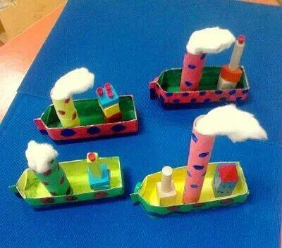 Stoomboot knutselen