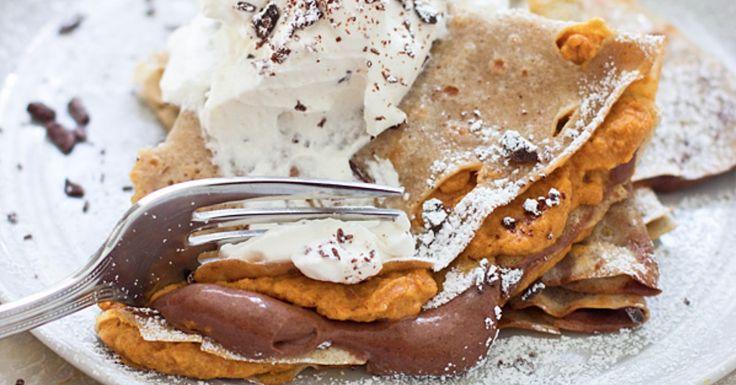 Pumpkin and Chocolate Crepe Recipe | POPSUGAR Food
