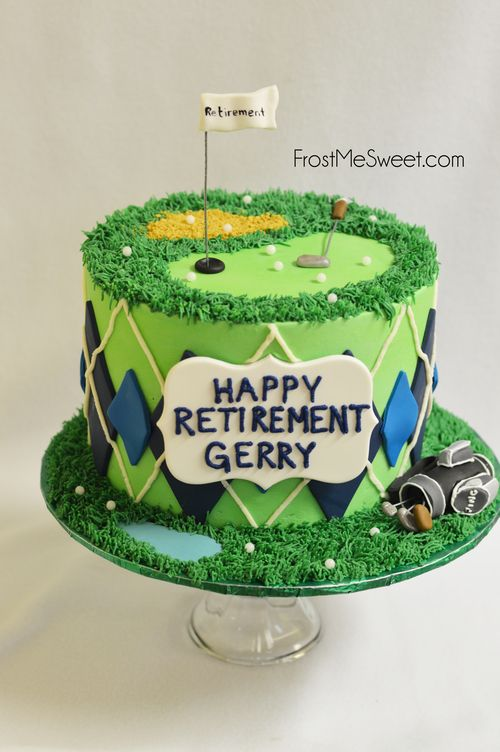Golfer Retirement Grooms Cake by Frost Me Sweet