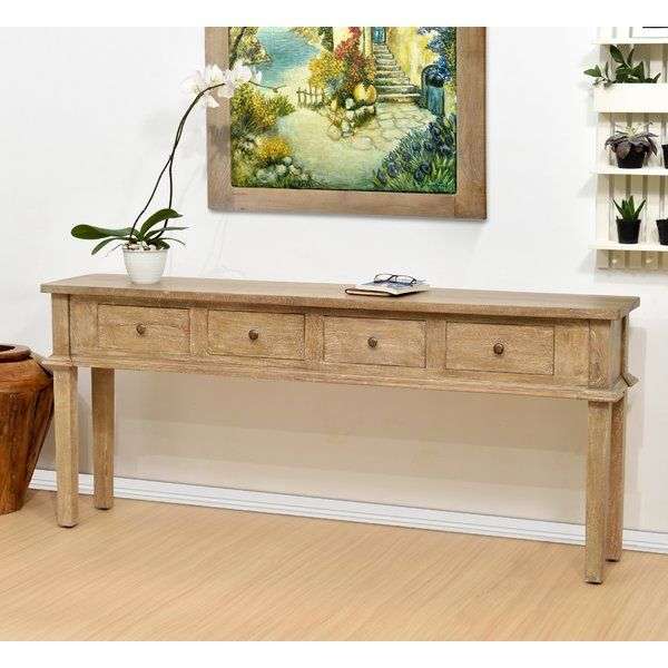 Marsha Console Table Skinny Darby Home Co - Solid Mahogany Wood Entry Wall Console Sofa Table