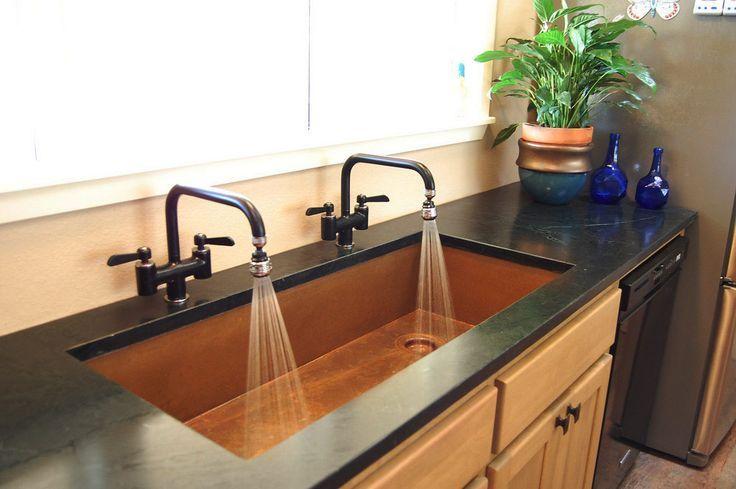 huge dual use copper undermount sink by rachiele www rachiele com made in the usa copper on kitchen sink id=22581