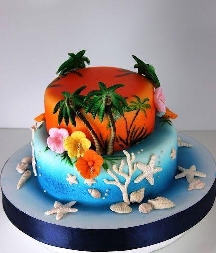 Southern Blue Celebrations Tropical Luau Cakes 2