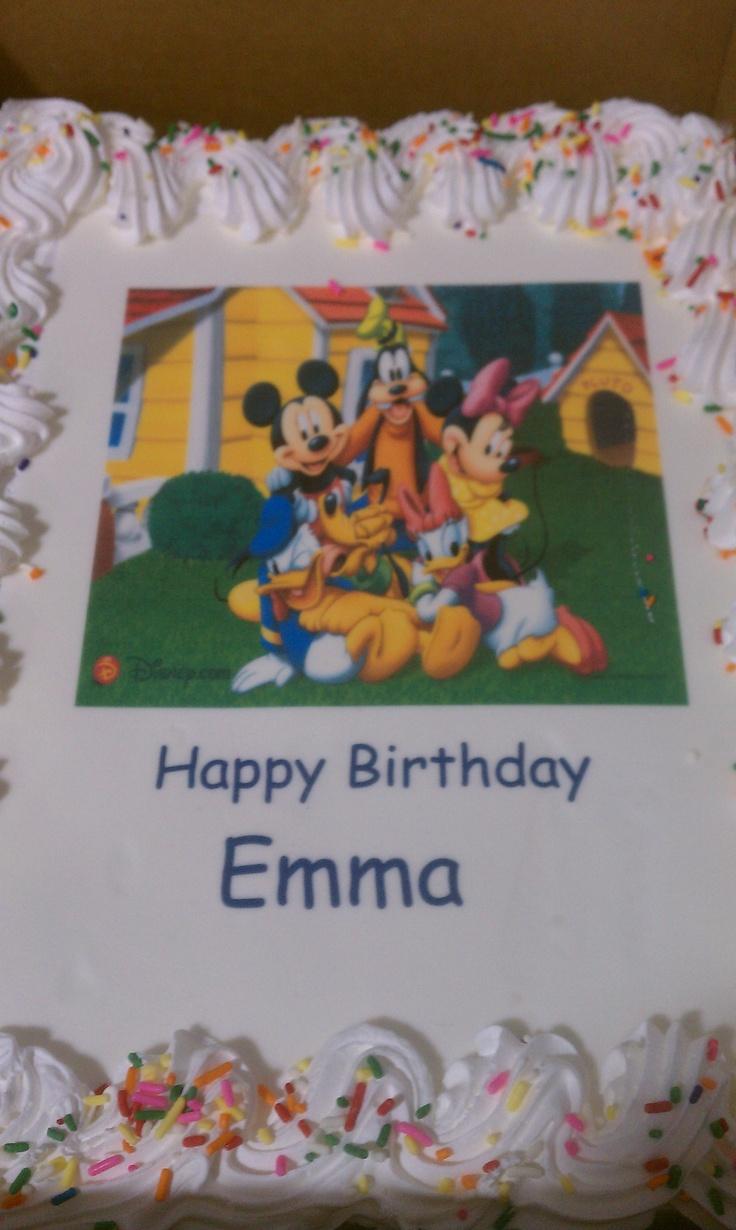 cake with edible image