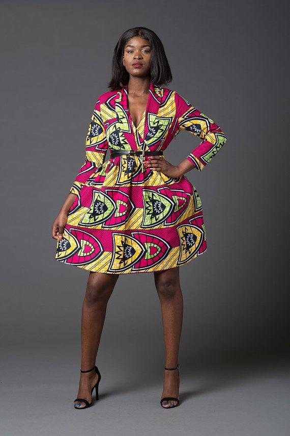 Afrikanische Kleidung, afrikanische Kleidung, Dashiki Kleid Ankara Kleid, Kleid mit print, gesammelten Kleid afrikanischen print Kleid, afrikanische Kleidung, Sommerkleid