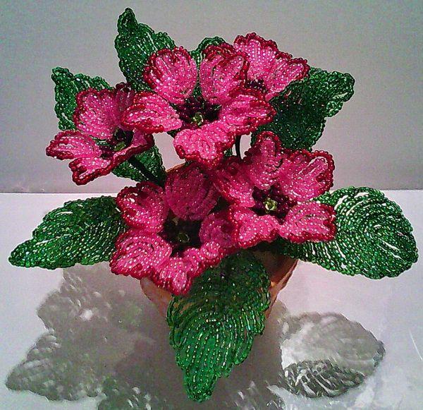 Примула розовая | biser.info - всё о бисере и бисерном творчестве