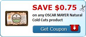 New Coupon!  Save $0.75 on any OSCAR MAYER Natural Cold Cuts product - http://www.stacyssavings.com/new-coupon-save-0-75-on-any-oscar-mayer-natural-cold-cuts-product/