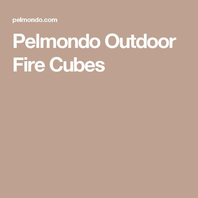 Pelmondo Outdoor Fire Cubes