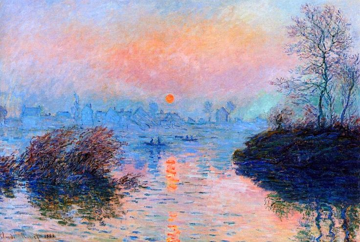 Claude Monet.  Sunset on the Seine (1880).  I really like the use of pastel colours as they give the piece a calming feel.