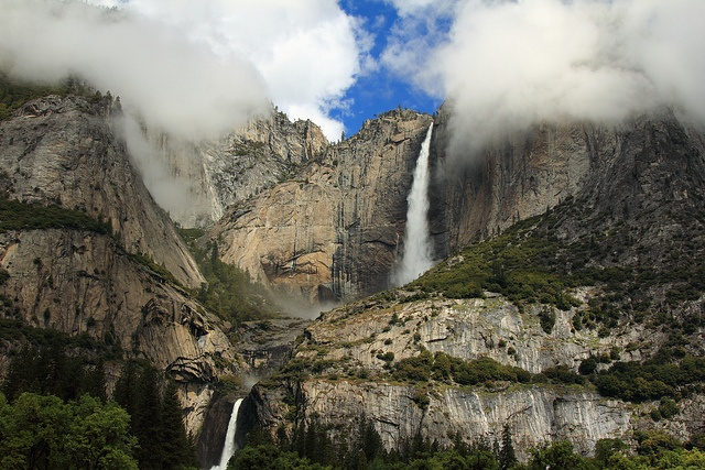 At 2,425' tall, Yosemite Falls is the tallest waterfall in North America!  Yosemite National Park, California, U.S.A.