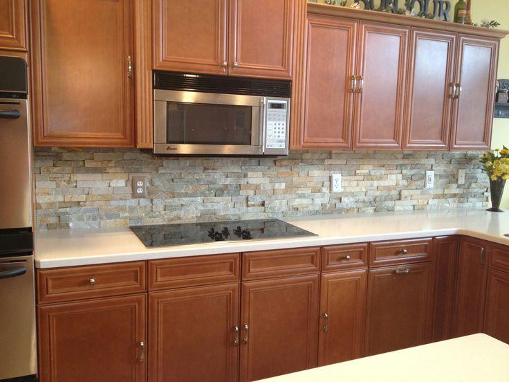 Kitchen Backsplash Centerpiece best 7 ledger stone backsplash images on pinterest | other | stone