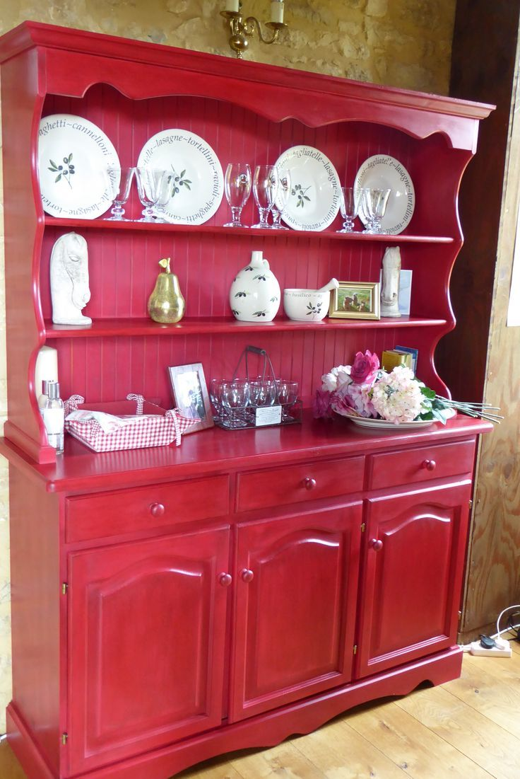 754 best Red Painted Furniture images on Pinterest   Painted ...