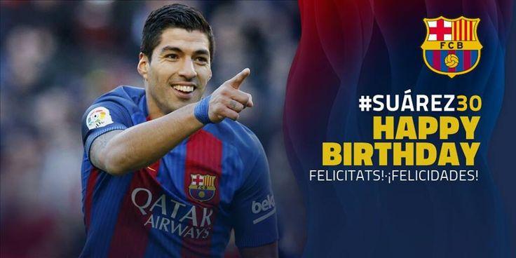 Happy Birthday Luis Suarez !!! Like to congratulate him #DM7 Per molt anys, Luis Suárez!!! Fes per felicitar-lo #DM7 ¡Muchas felicidades, Luis Suárez! Haz para felicitarlo #DM7
