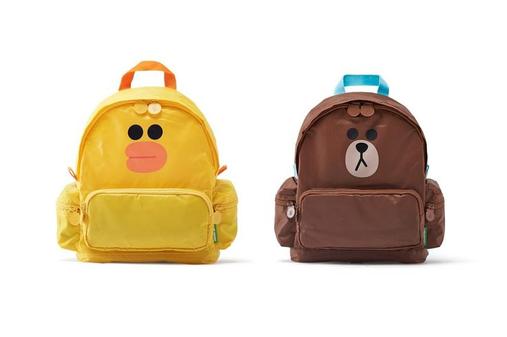 LINE FRIENDS BROWN SALLY Character Little Kids Pre-School Multi Pockets Backpack #LINEPLUS
