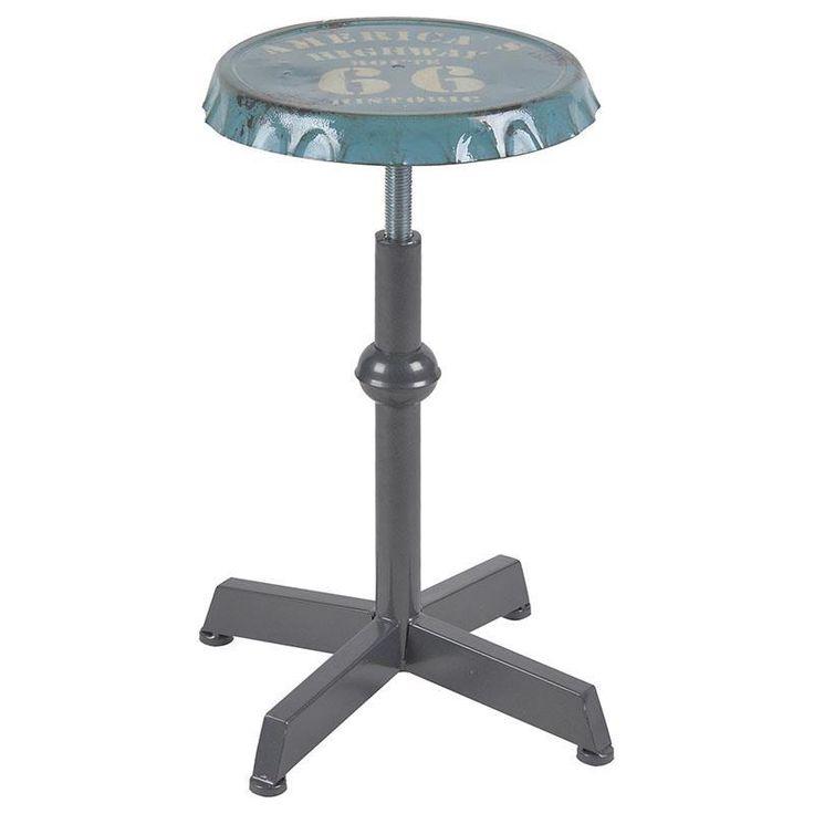Splendid metallic #stool by inart! www.inart.com