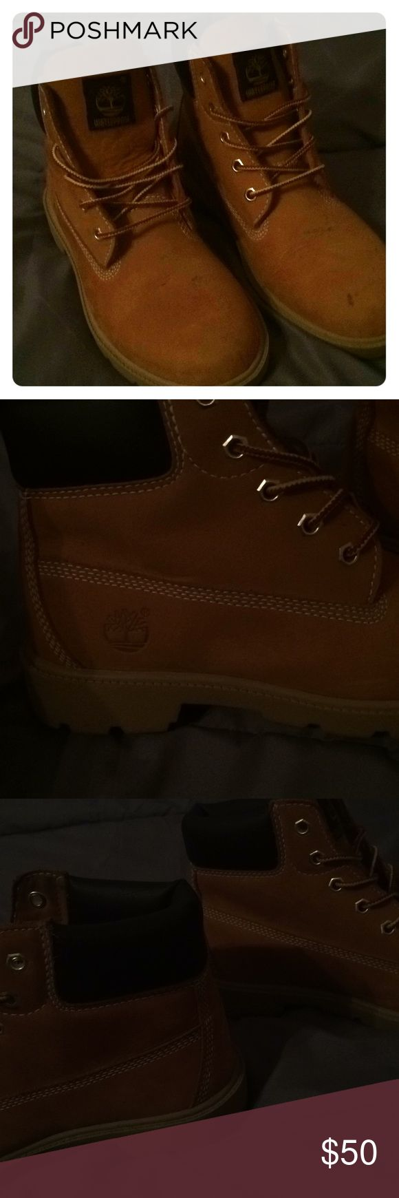 Girls timberlands. Waterproof. Size 4. Worn twice Like new. Only worn them twice. Can fit girls size 4 or 5 Timberland Shoes Ankle Boots & Booties