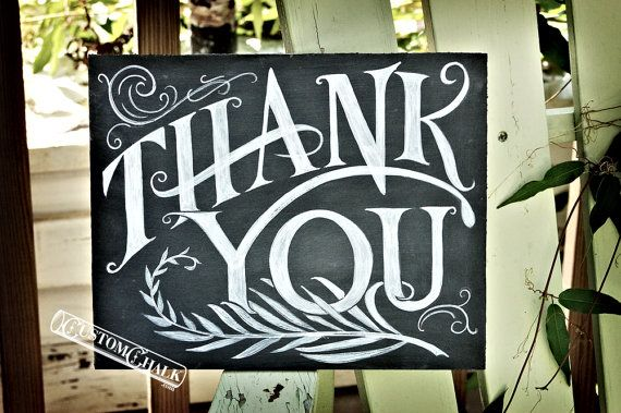 Thank You Sign  Wedding Thank You Sign  Party Thank by customchalk, $39.00