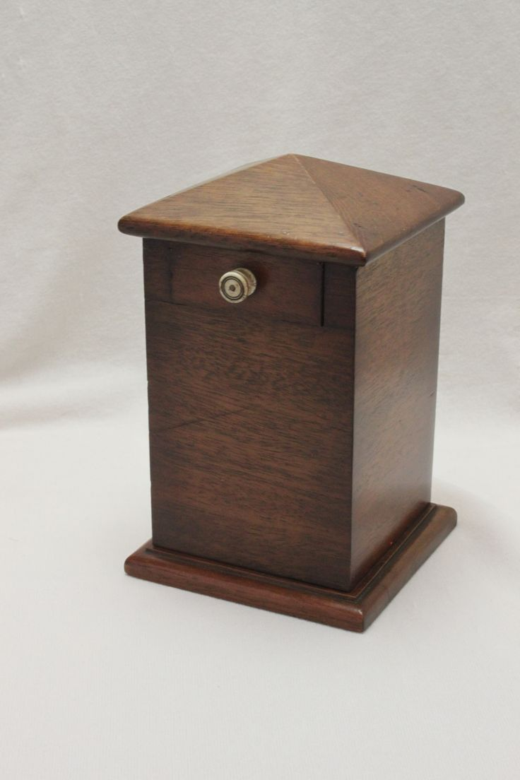 """A lovely little """"mystery"""" money box made in mahogany in the late C19th. www.chinaroseantiques.com.au"""