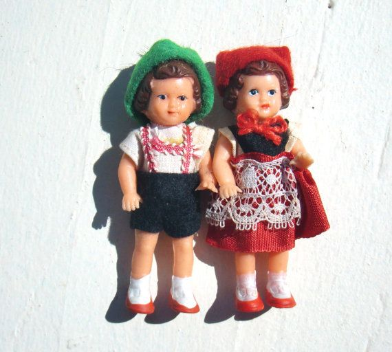 Vintage German Doll House Miniature Dolls Made by MellowMermaid, $36.00