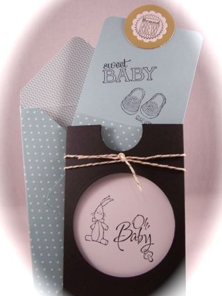 Baby We've Grown, Reveal the gender of your Baby with a Magic Slider Card, Stampin' Up!  www.stampingcountry.com