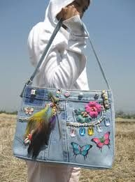 Image result for recycled jean bags thailand                                                                                                                                                                                 More