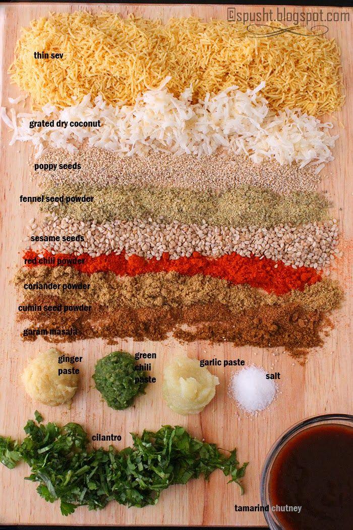 Ingredients for Bakarwadi stuffing