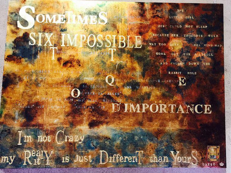 "Johnny Darko Artist Exhibit ""Alice in Wonderland"" Maison des Metiers D'Art Pezenas 34120 France 04.67.98.16.12 South of France"