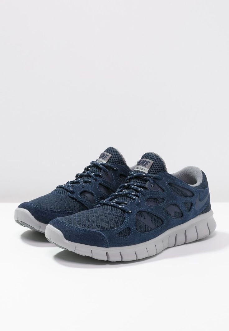 Nike Sportswear FREE RUN 2 - Baskets basses - midnight navy/flat silver -  ZALANDO