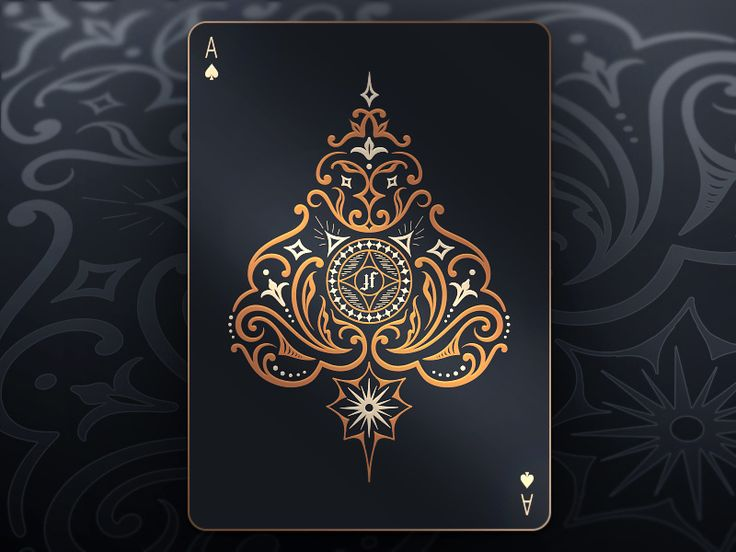 I recently designed a custom deck of cards for the amazing Justin Flom and I wanted to share with you guys a sneak preview through this ace of spades card. More of this deck coming soon!