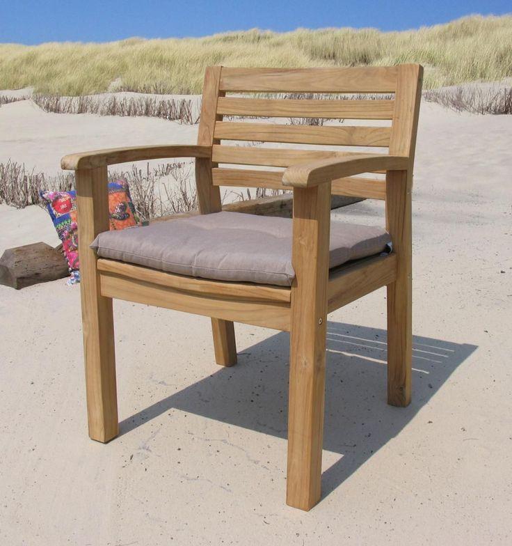 Awesome Grasekamp Teak Gartenstuhl mit Auflage Sand Sessel Stuhl Gartenm bel Jetzt bestellen unter https