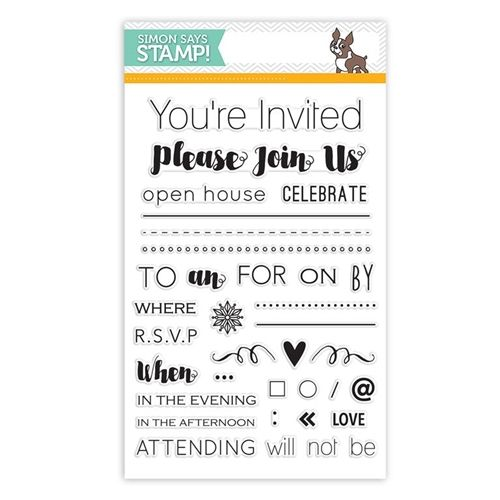 Simon Says Clear Stamps MAKE AN INVITATION sss101547 Create Joy at Simon Says STAMP!