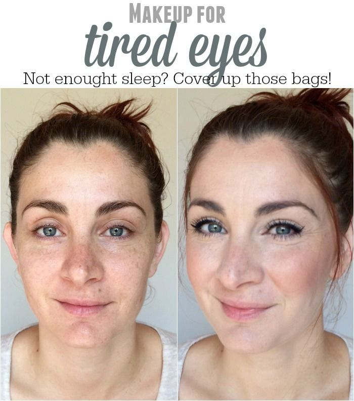 Freshen up your face with this makeup look for tired eyes! It doesn't take a lot of time and you'll feel better in no time!