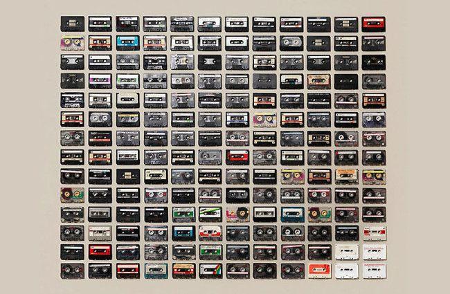 cassette tape art!