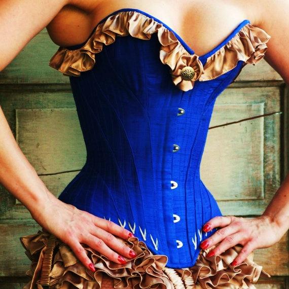 Angela Friedman Custom Corsetry  Sasha corset - custom size: Character Inspiration, Blue Corsets, Angelafriedman, Corsets Custom, Burlesque Fashion, Lingerie Style, Burlesque Corsets, Sasha Corsets, Overbust Corsets