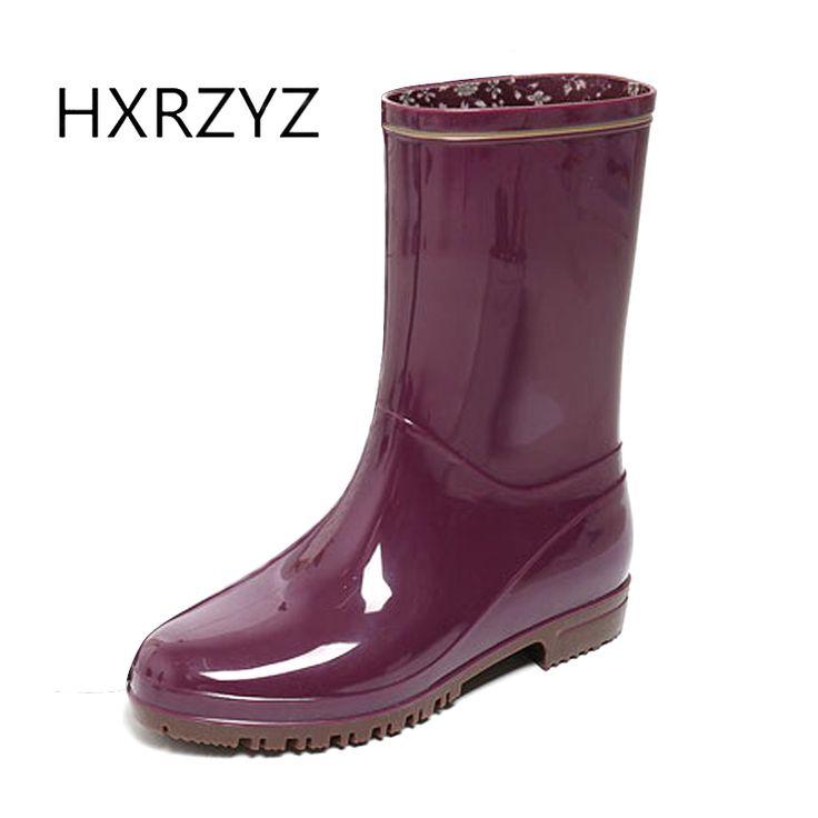 spring/autumn shoes women hot new fashion women rain Boots female PVC slip-on Slip-Resistant Waterproof rubber boots for women #Affiliate
